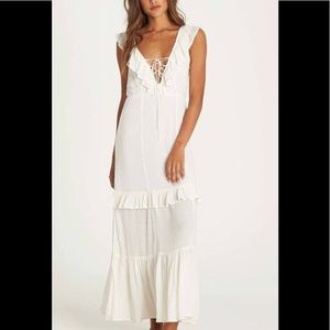 BILLABONG NWT ROMANCE ROW MAXI LACE-UP FRONT SZ S